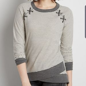 Maurices Striped Tulip Hem Sweatshirt